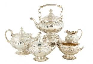Gorham Five Piece Sterling Silver Tea Set