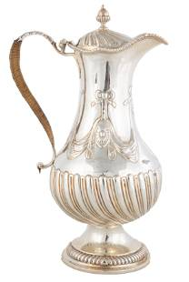 English Sterling Silver Water Pitcher