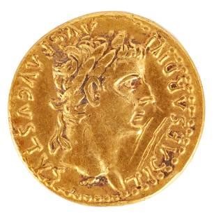 Aureusof Tiberius, (14-37 AD)
