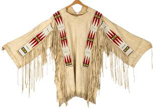 Native American Beaded War Shirt