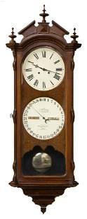 Ithaca Regulator No. 2 Bank Calendar Clock