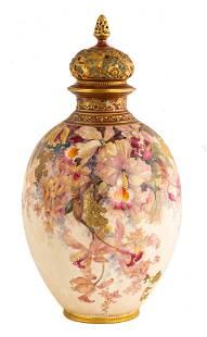 Large Royal Crown Derby Porcelain Potpourri Jar