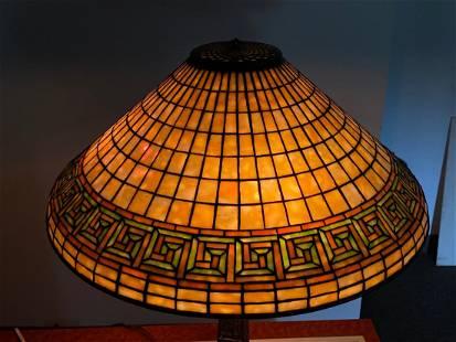 Tiffany Studios, New York Greek Key Table Lamp