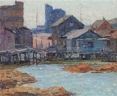 George Renouard (American, 1884-1954) Harbour Scene