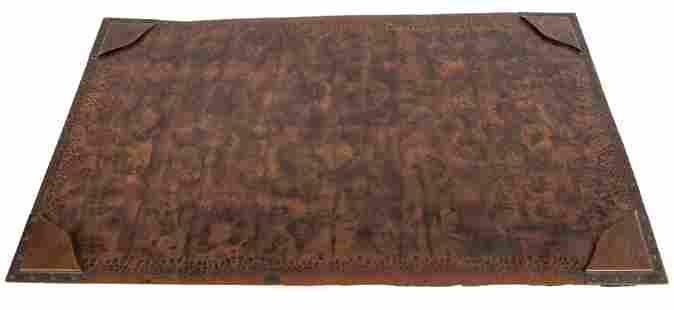 Gustav Stickley Hammered Copper Desk Blotter