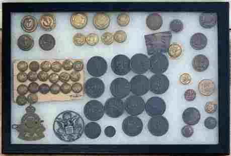 Group of Military Buttons