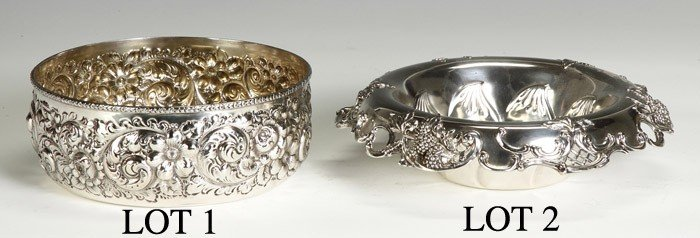 Frank W. Smith (1886-1958) Sterling Repousse Bowl