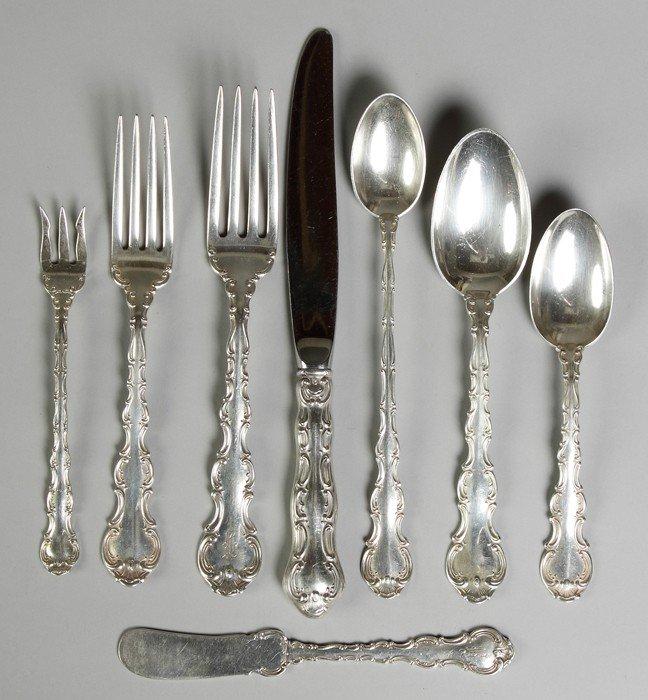 Gorham Sterling Silver Flatware Set - Strasbourg Patter