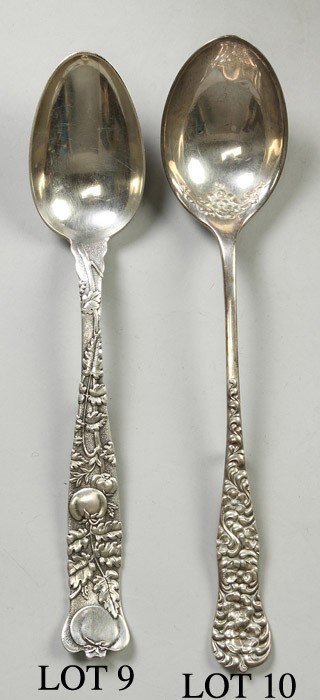 Tiffany Sterling Silver Serving Spoon - Tomato Vine Pat