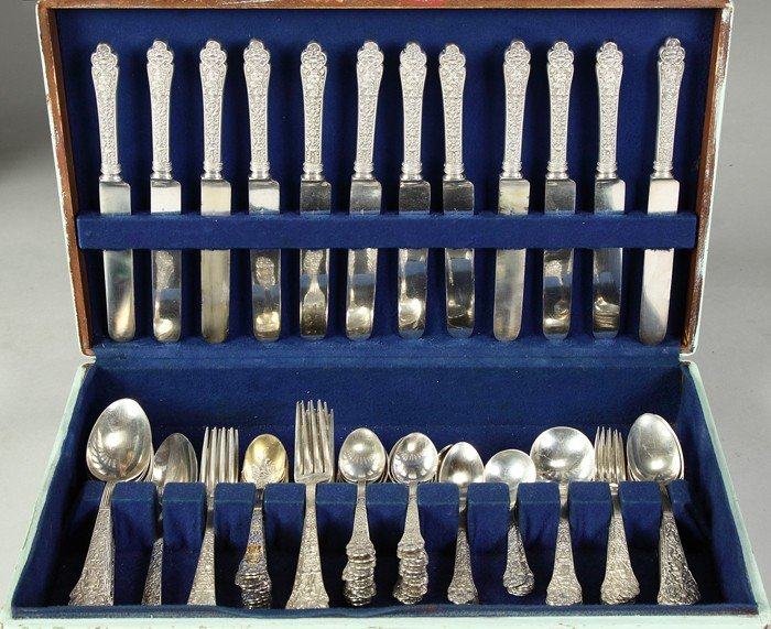 Gorham Sterling Silver Flatware Set - Old Medici Patter
