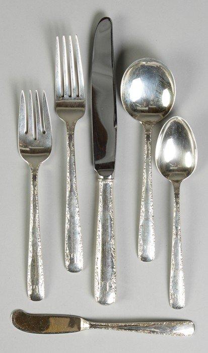 Gorham Sterling Silver Flatware -  Camellia Pattern, Se