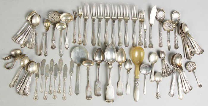 Misc. Sterling Flatware and 2 Bowls