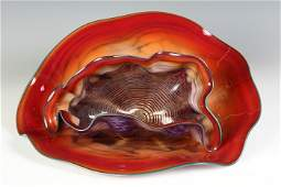 Dale Chihuly (American, born 1941) Set of Shells w/Turq