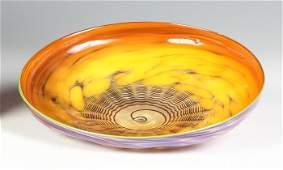 Dale Chihuly (American, born 1941) Orange/Purple Shell
