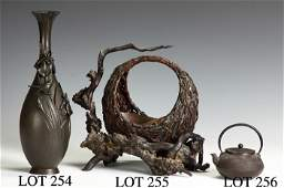 Sgn Japanese Bronze Vase