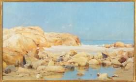 "Francis Coates Jones (American, 1857-1932) ""Maine Rocks"