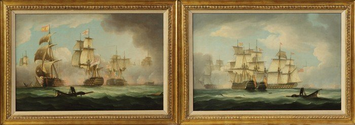 """A Pair of Thomas Buttersworth (British, 1768-1842) """"Eng"""