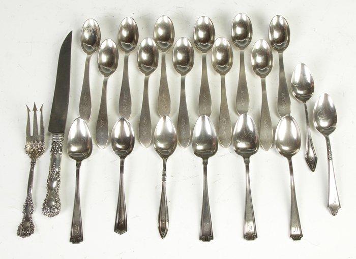 8: 21 Pcs. Sterling Silver Flatware