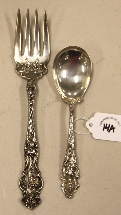 14A: Sterling Serving Fork & Spoon