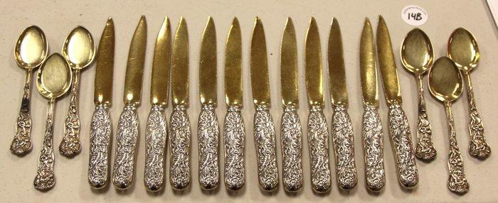 14B: Sterling Fruit Knives & Spoons