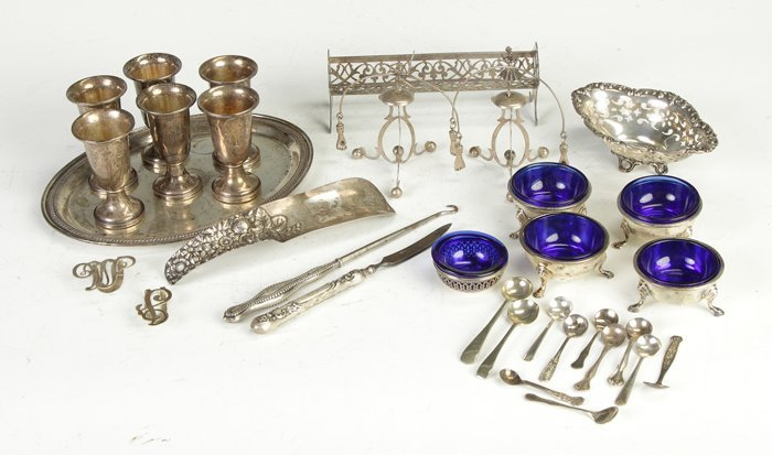 15: Group of Misc. Sterling Items