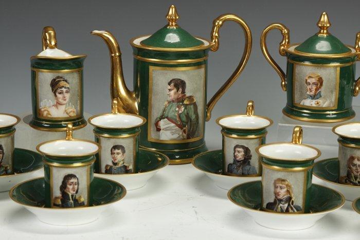 8: Hand Painted Porcelain Tea Service of Napoleon & His