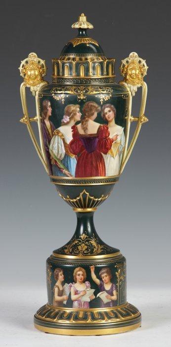 12: Royal Vienna Covered Urn