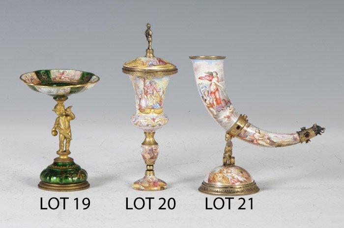20: Viennese Enameled Miniature Urn
