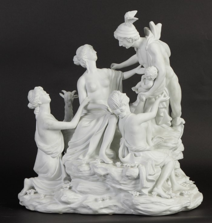 23: Parian Bisque Figural Group of Gods of Olympus