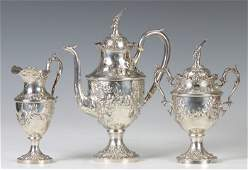 174: Jacobi & Jenkins Sterling Silver 3-Pc. Tea Set