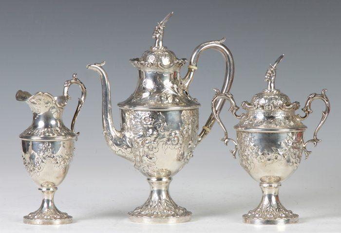 Jacobi & Jenkins Sterling Silver 3-Pc. Tea Set