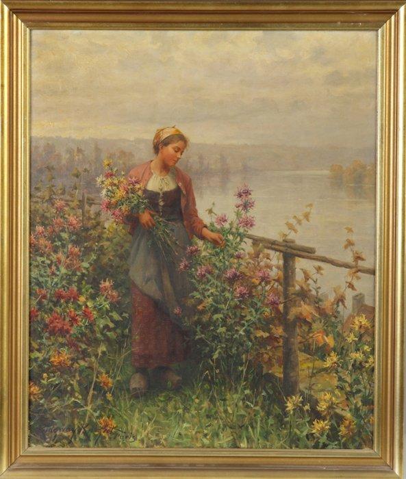 "198: Daniel Ridgway Knight (1839-1924) ""Making Her Cho"