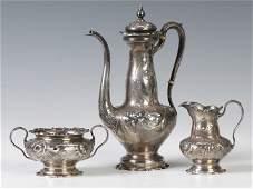 213 Gorham 3Pc Sterling Silver Tea Set