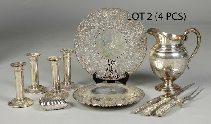 2: Group of 4 Sterling items