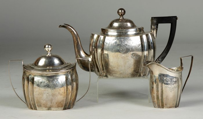 8: 3-Pc. Tea Set by N. Francis