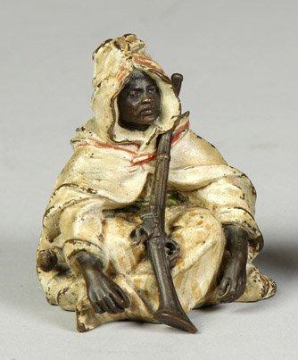15: Bergman Cold Patinated Bronze Seated Arab