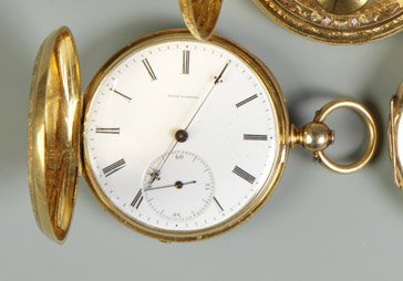 20: Jules Huguenin 18K Gold Pocket Watch