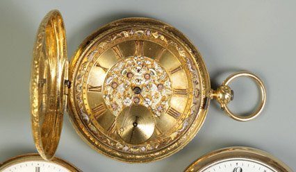 21: Fred. Courvoisier Gold Pocket Watch