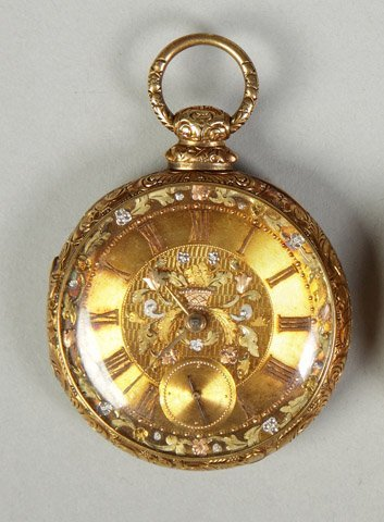23: FW & Co. 18K Gold Pocket Watch