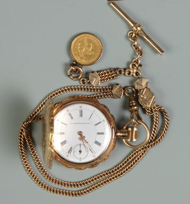 27: 14 K Gold Pocket Watch