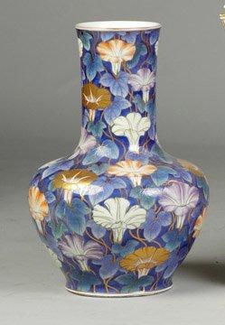 97: Hand Painted Porcelain & Enameled Vase