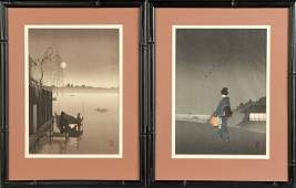 179 3 Sgn Japanese Wood Block Prints