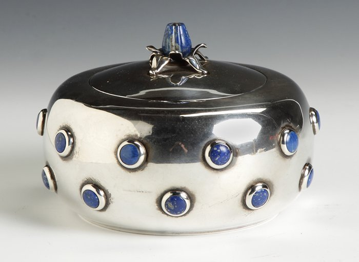 Sterling Silver Round Covered Box