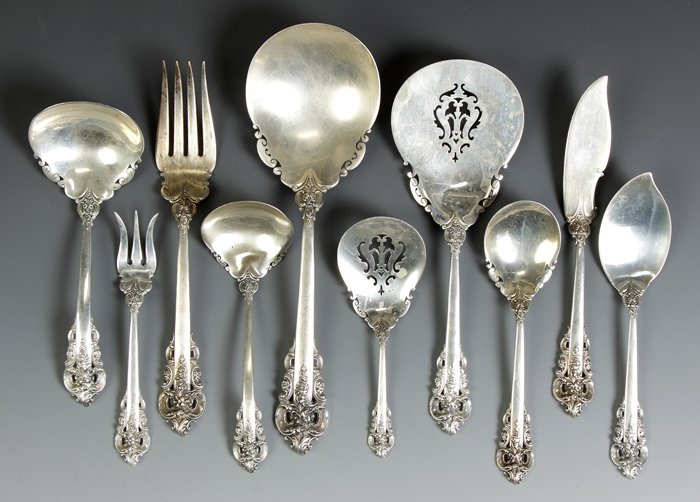 Wallace Sterling Silver Flatware - Grand Baroque Patter