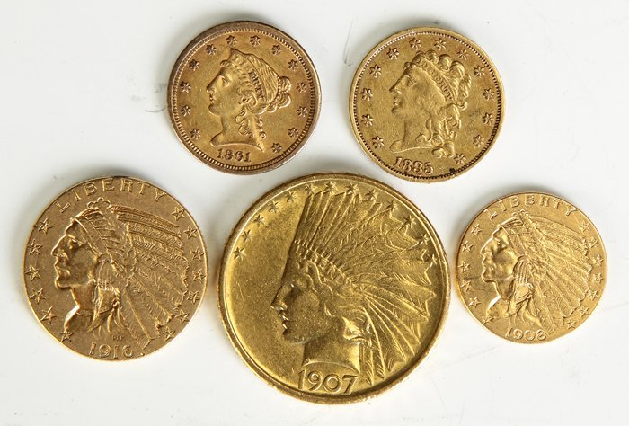 5 US Gold Coins