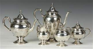 Gorham Sterling Silver 5 Pc. Tea Set