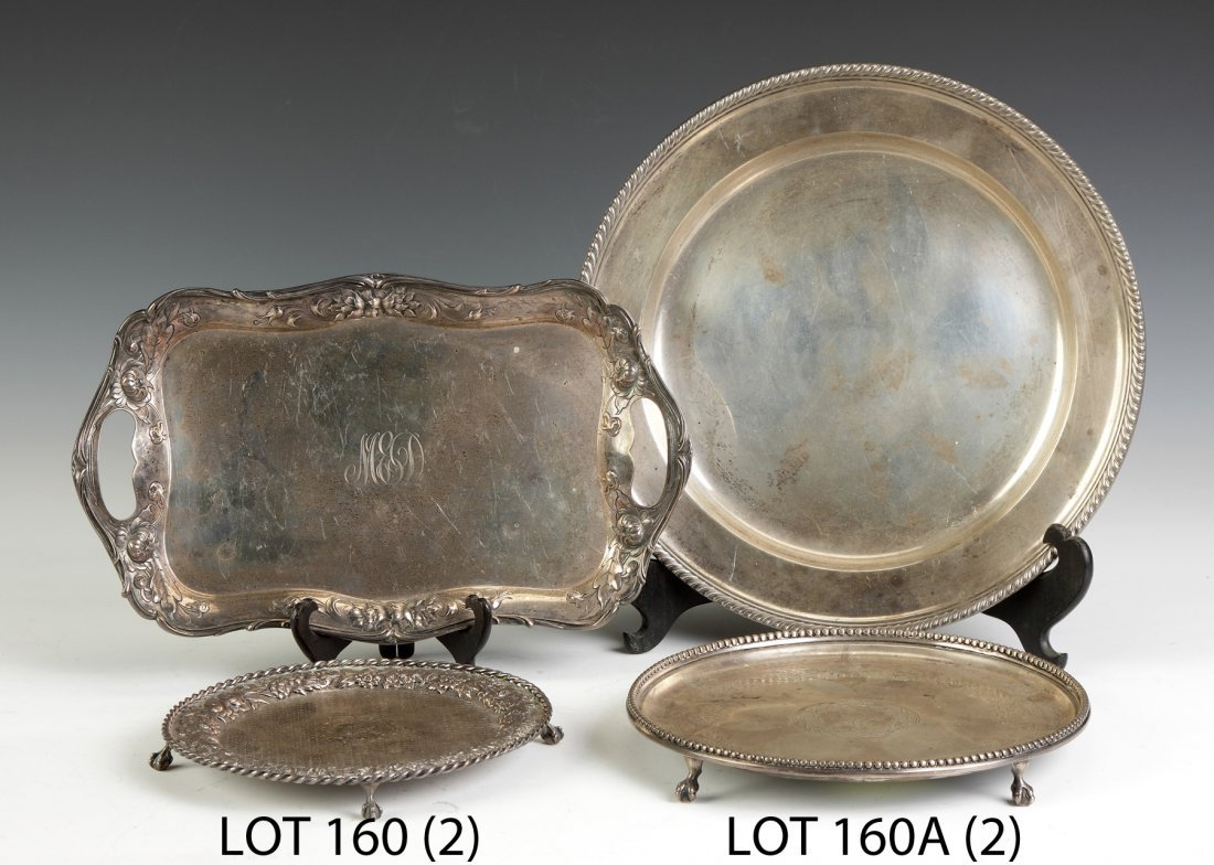 Two Gorham Sterling Silver Trays