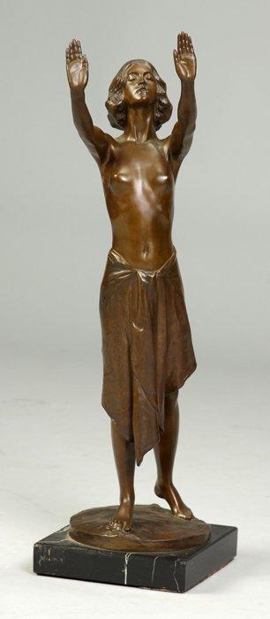 Sgn. Ernst Muller Bronze of woman