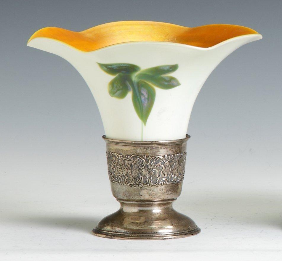 Sgn. Quezal Art Glass Vase