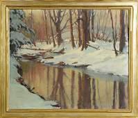 Emile A. Gruppe (American, 1896-1978) Winter stream